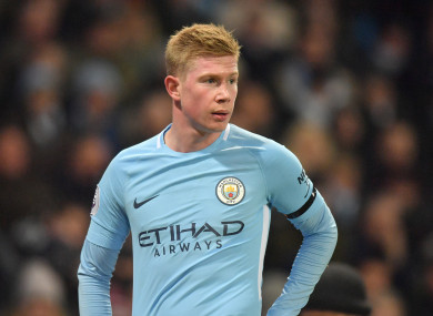 Kevin De Bruyne has been one of Man City's most influential players this season.