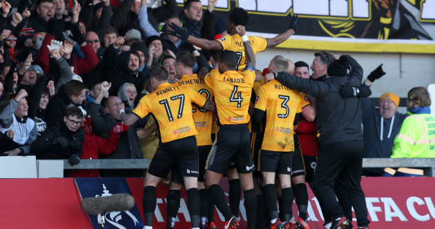 Stunning FA Cup upset as Padraig Amond's Newport County dump out Leeds
