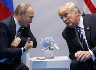 File photo of Vladimir Putin and Donald Trump.
