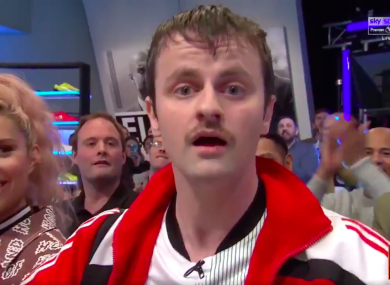 Comedian Richy Sheehy appeared on Soccer AM on Saturday.