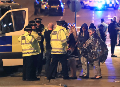 File photo: Police speaking to concert goers after last May's attack.