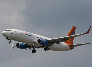 A Sunwing plane was one of those involved in the collision.