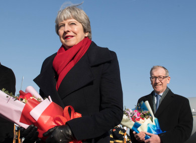 Theresa May arriving in Beijing, China today