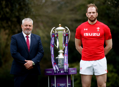 Wales head coach Warren Gatland and captain Alun Wyn Jones at last week's launch of the Six Nations.