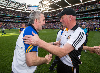 Tipperary boss Michael Ryan and Kilkenny manager Brian Cody will face off on Sunday.