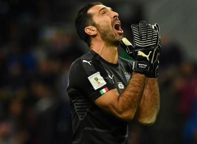 Italy goalkeeper Gianluigi Buffon.