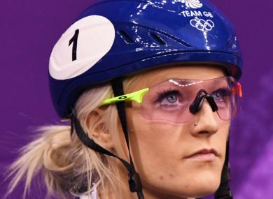 Team GB speed skater Elise Christie