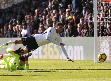 Tottenham Hotspur's Dele Alli appears to go down during the Premier League match at Selhurst Park.