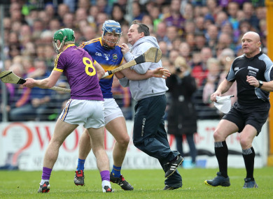 The incident involving Davy Fitzgerald and Jason Forde hit the headlines last April.