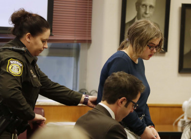 Morgan Geyser appears for sentencing before Waukesha County Circuit Judge Michael Bohren.