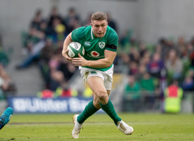 Jordan Larmour starts for Leinster tomorrow afternoon on the back of his Ireland debut last weekend.