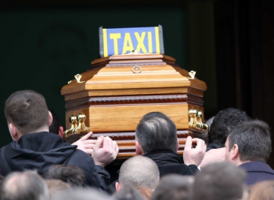 Scenes at Eddie Hutch's funeral in February 2016