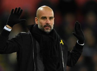 Manchester City head coach Pep Guardiola.