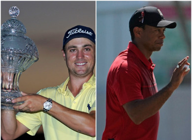 An eighth win on the USPGA Tour  for Justin Thomas with Tiger Woods eight shots back.