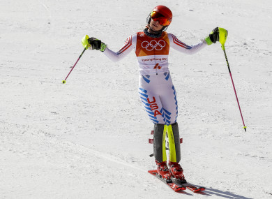 Mikaela Shiffrin's quest for four gold medals fell in her favourite event.