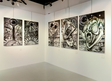 Art Exhibition by the Vane Group at a gallery in Bangkok, Thailand.