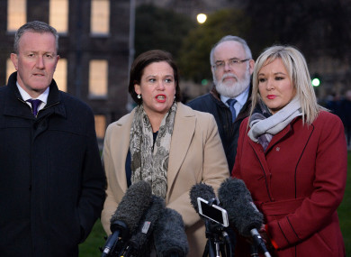 The Sinn Féin team in Westminster today.