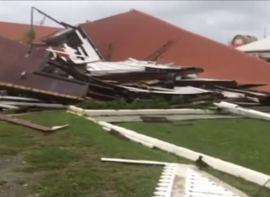 The parliament house damaged by Cyclone Gita in Nuku'alofa, Tonga.
