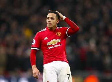 Alexis Sanchez failed to record a shot on target against Tottenham midweek.