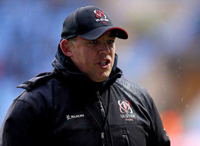 Ulster head coach Jono Gibbes.