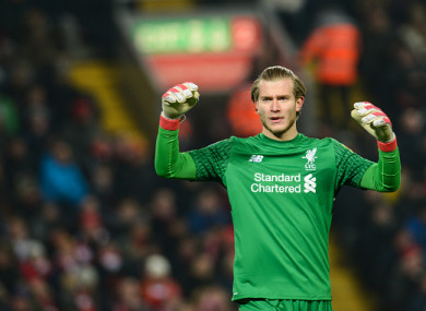 Karius kept a clean sheet against Newcastle on Saturday.