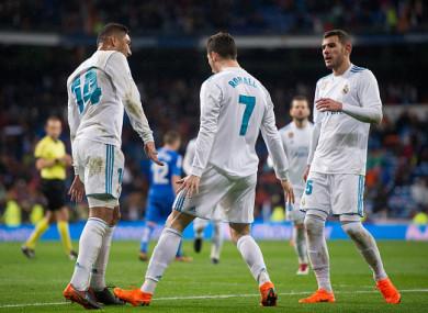 Ronaldo celebrates his opening goal.