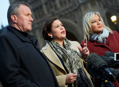 Sinn Féin's leadership in Westminster last month.