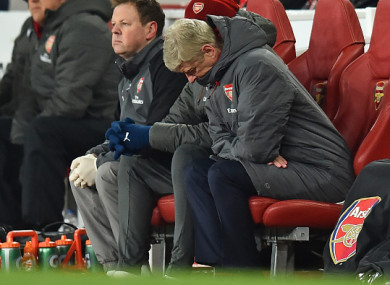 Wenger watched his team slip to another 3-0 defeat to Man City on Thursday night.