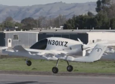 The flying taxi during testing.