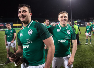 Jack O'Sullivan celebrate's his man-of-the-match performance in Donnybrook.