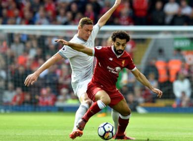 Man United midfielder Nemanja Matic and Liverpool's top scorer Mohamed Salah.