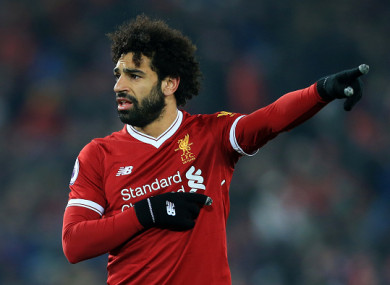 Salah scored his 32nd goal of the season on Saturday.