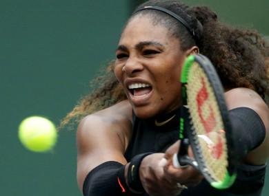 American star and 23-time grand slam champion Serena Williams