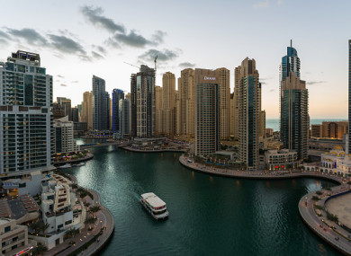A general view of Dubai Marina.
