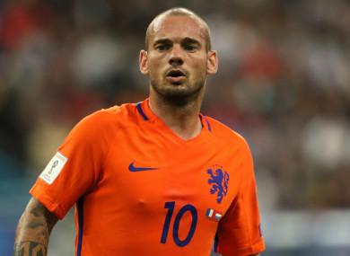 Sneijder won 133 caps.