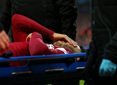 Oxlade-Chamberlain was stretchered off after 18 minutes last night.