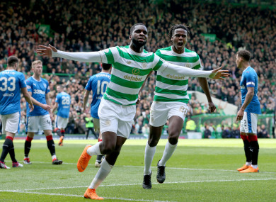 20-year-old Odsonne Edouard was in fabulous form for Celtic today.