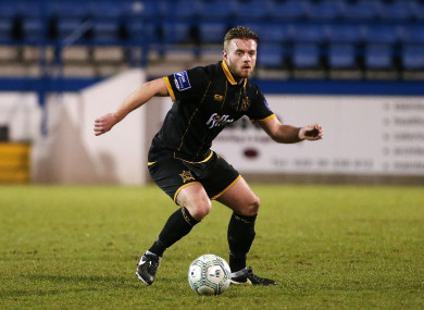 Clifford playing with Dundalk last season.