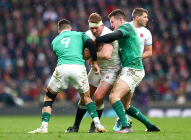Hartley in action against Ireland last month.