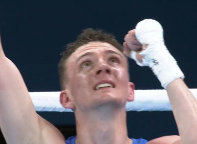 2016 Irish Olympian Brendan Irvine celebrates a superb semi-final win