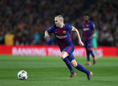Farewell: Andres Iniesta.