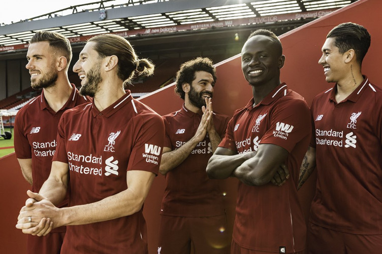 Liverpool unveil their new home kit for next season · The42 942e07770