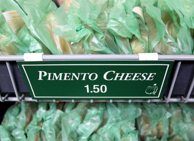 The Pimento Cheese Sandwiches at Augusta are world famous.