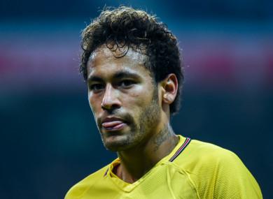 PSG and Brazil forward Neymar.