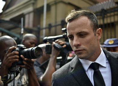 File photo of Oscar Pistorius leaving the Pretoria High Court in 2014.