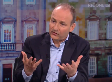 Michael Martin TD and RTÉ's The Week in Politics.