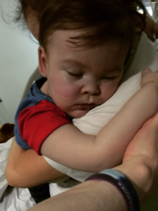 An image uploaded to Facebook of Alfie Evans' mother Kate James.