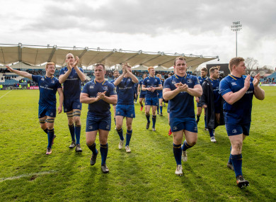 Leinster celebrate their 41-6 win.