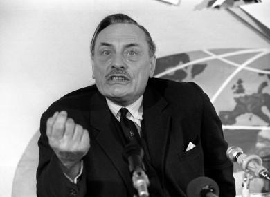 Powell made the speech in Birmingham in 1968.
