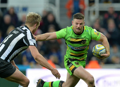 Horne in action for Northampton Saints.